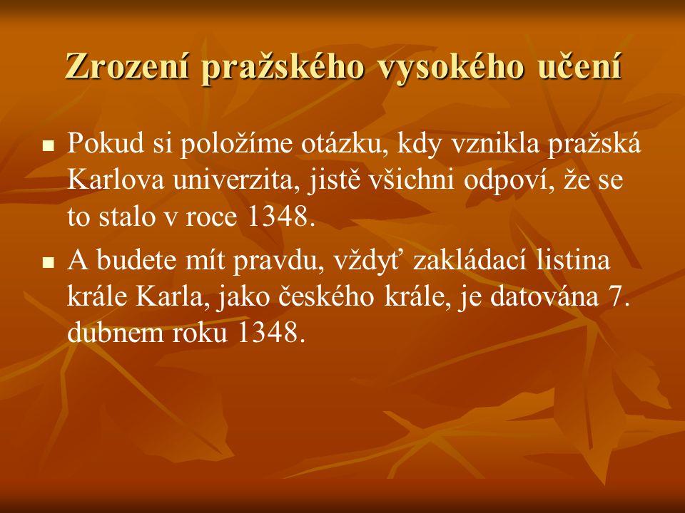 Zrození pražského vysokého učení