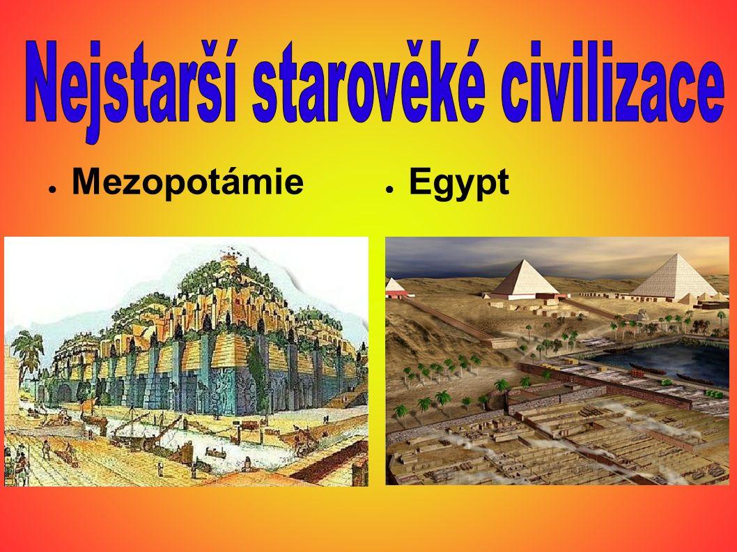 Nejstarší starověké civilizace