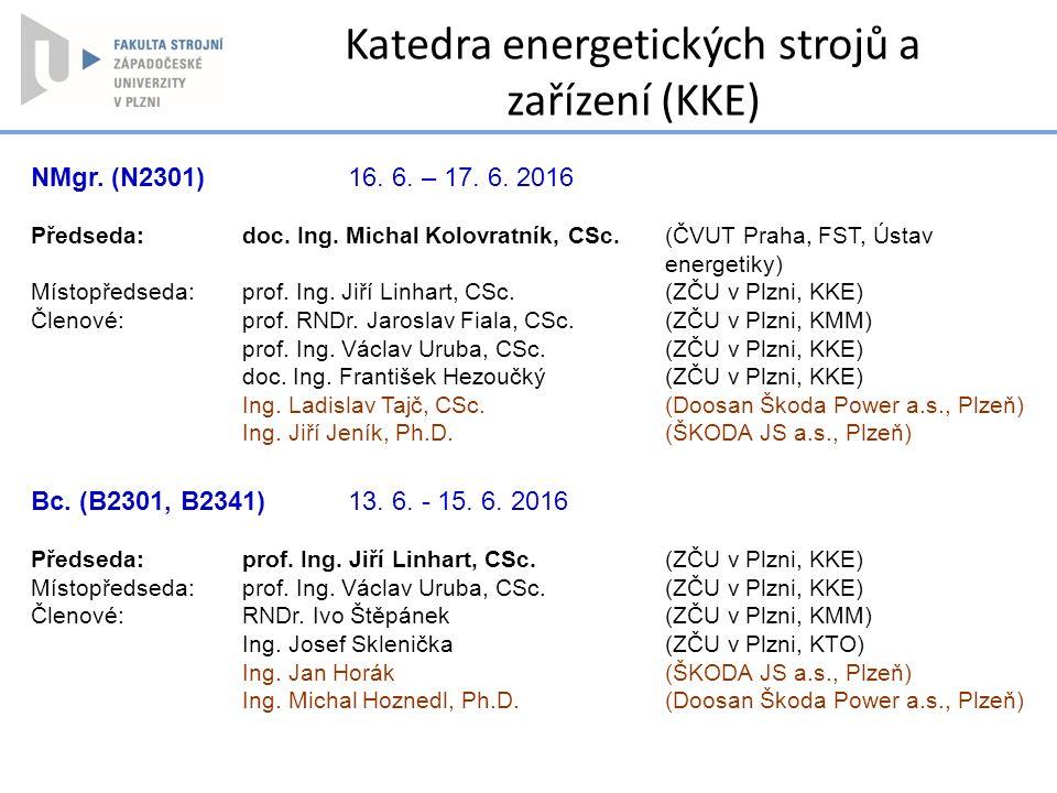 Katedra energetických strojů a zařízení (KKE)