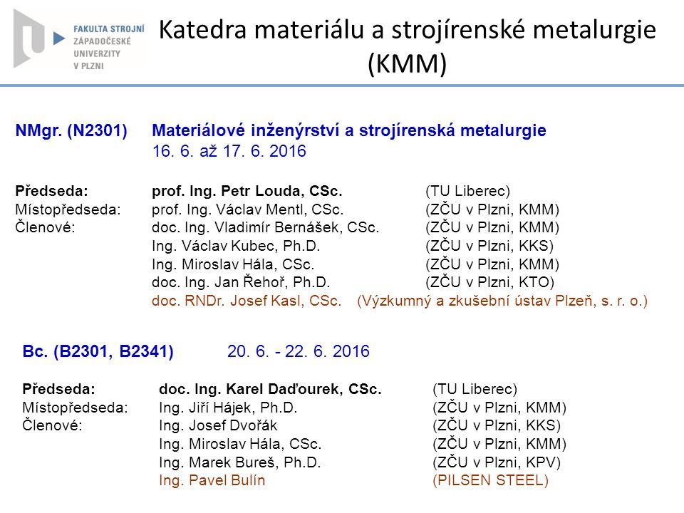 Katedra materiálu a strojírenské metalurgie (KMM)