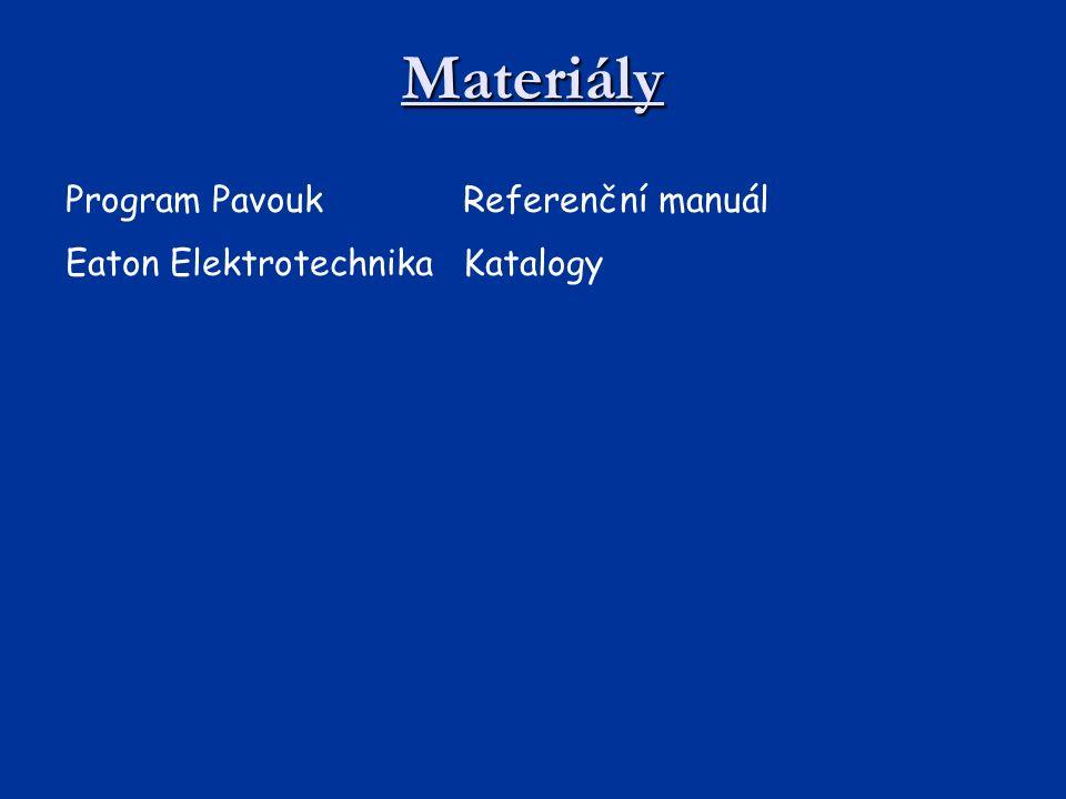 Materiály Program Pavouk Referenční manuál