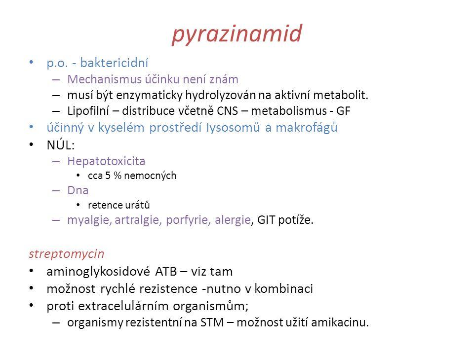 pyrazinamid p.o. - baktericidní