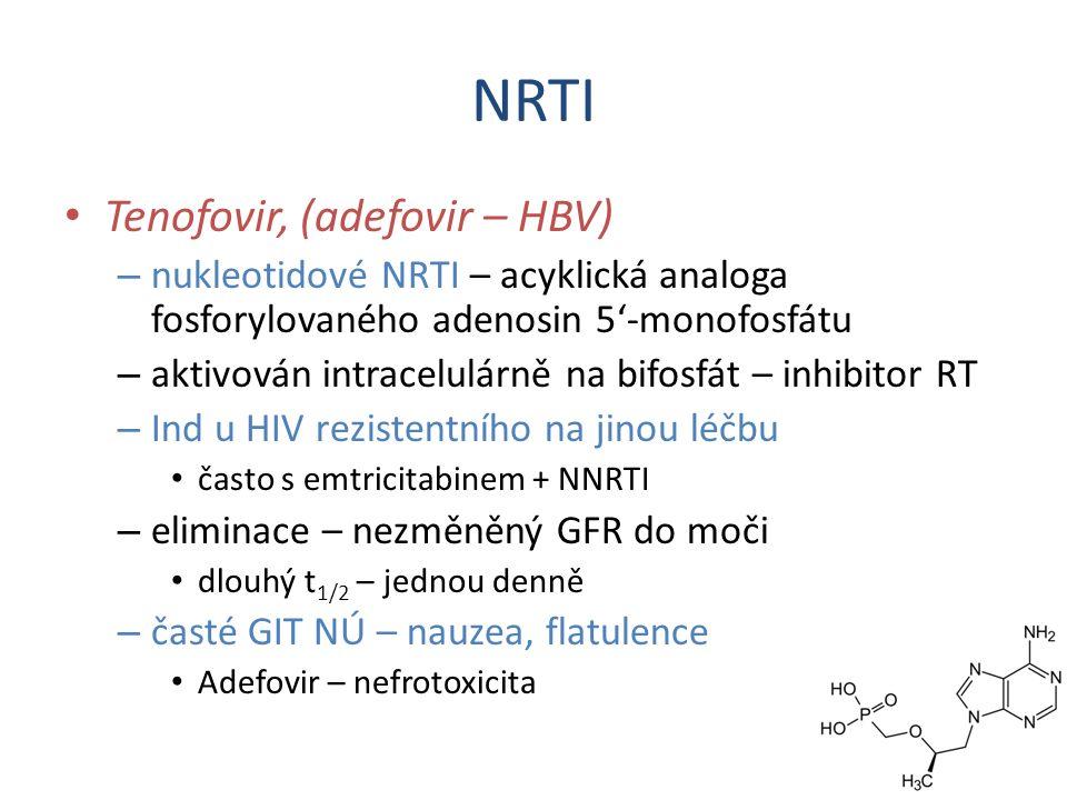 NRTI Tenofovir, (adefovir – HBV)