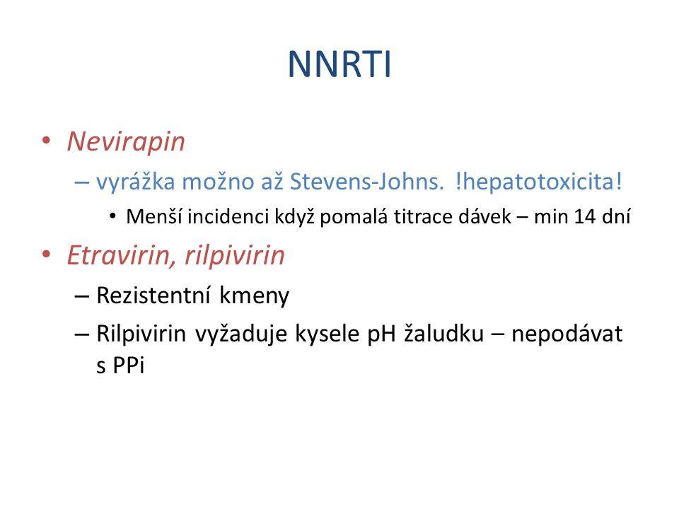 NNRTI Nevirapin Etravirin, rilpivirin