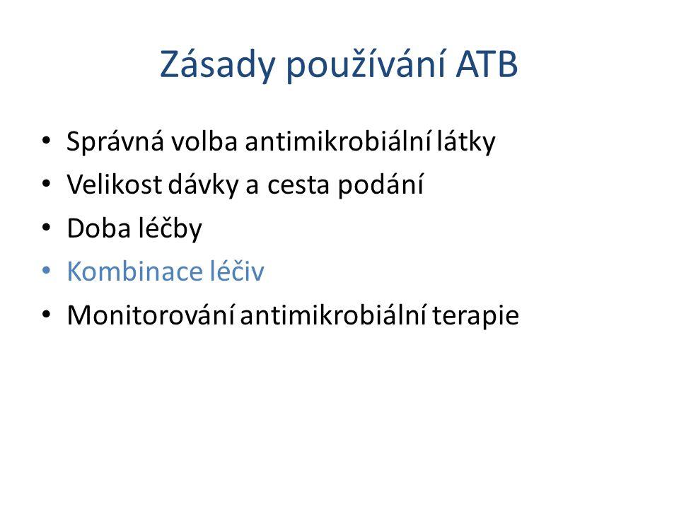 Zásady používání ATB Správná volba antimikrobiální látky