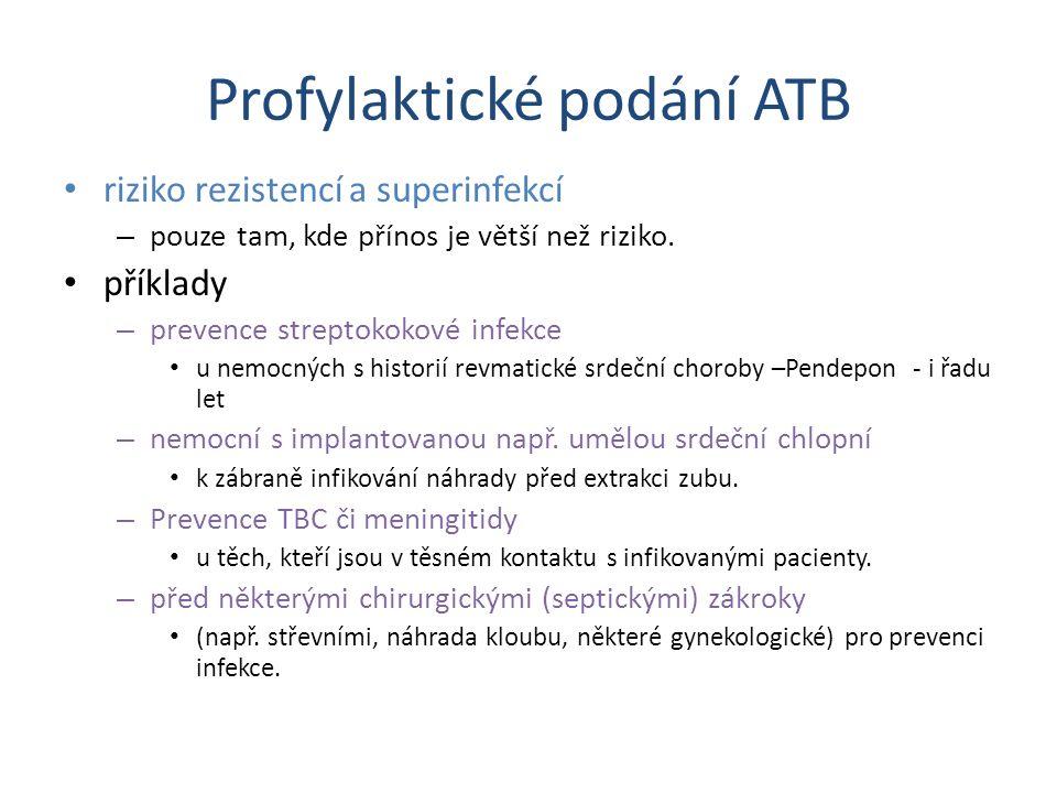 Profylaktické podání ATB