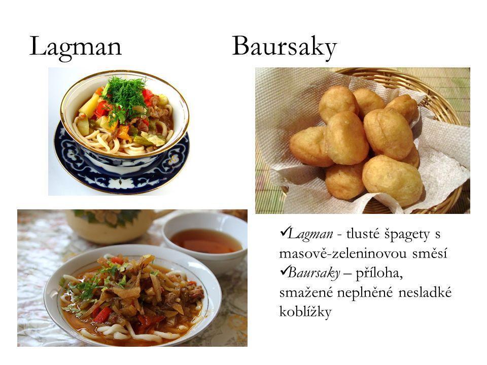 Lagman Baursaky Lagman - tlusté špagety s masově-zeleninovou směsí
