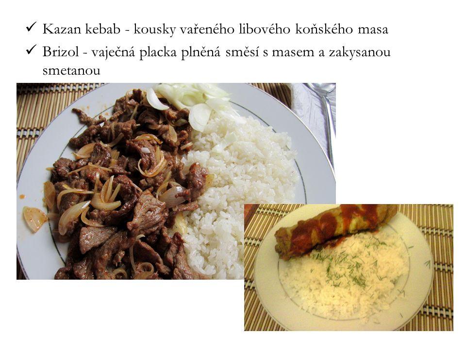 Kazan kebab - kousky vařeného libového koňského masa