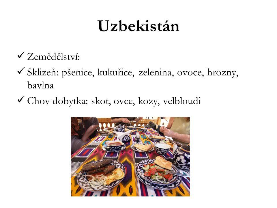 Uzbekistán Zemědělství: