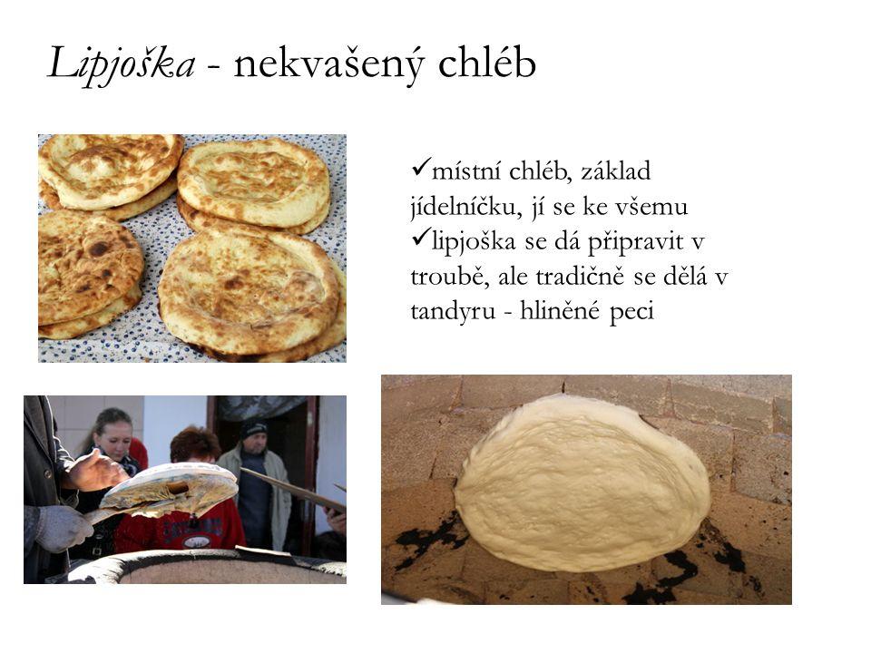 Lipjoška - nekvašený chléb