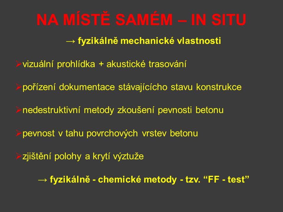 → fyzikálně - chemické metody - tzv. FF - test