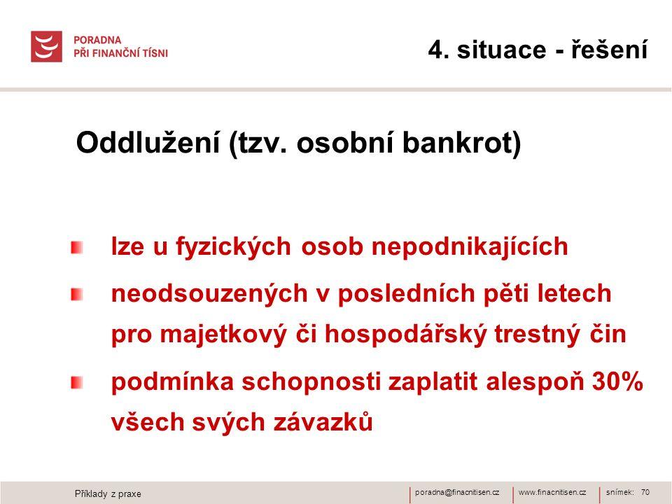 Oddlužení (tzv. osobní bankrot)