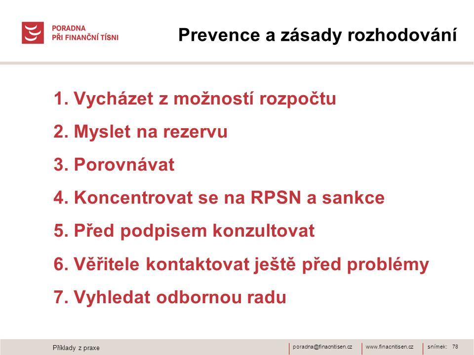 Prevence a zásady rozhodování