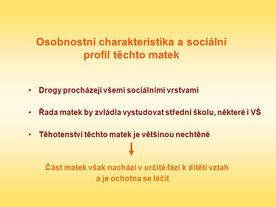 Osobnostní charakteristika a sociální profil těchto matek