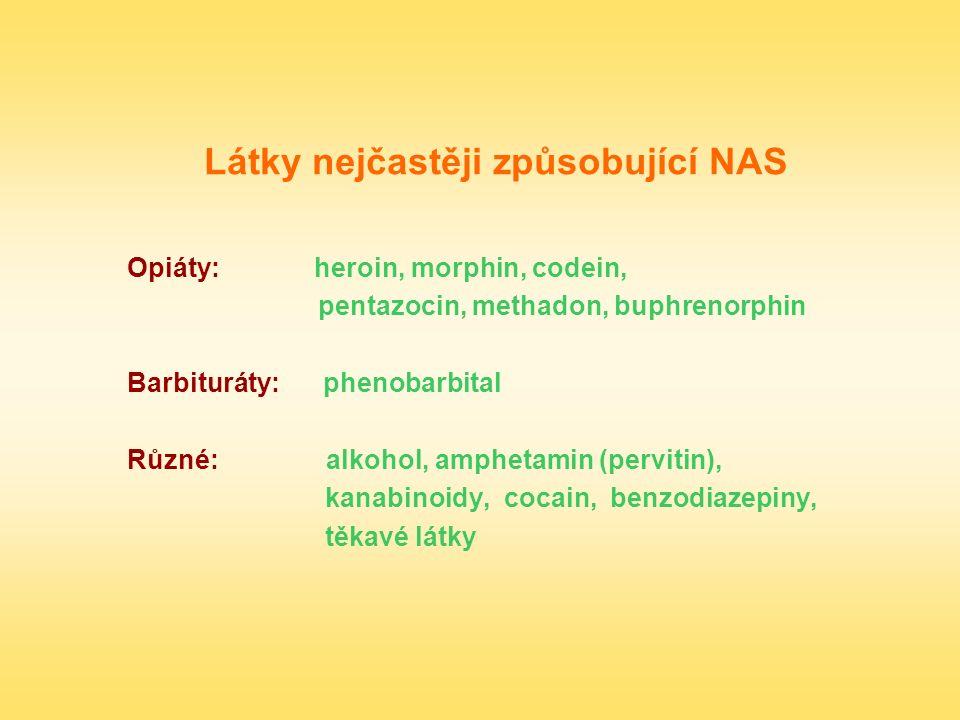 Látky nejčastěji způsobující NAS