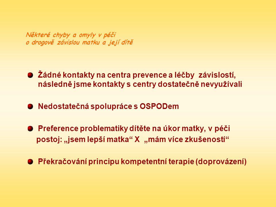 Nedostatečná spolupráce s OSPODem