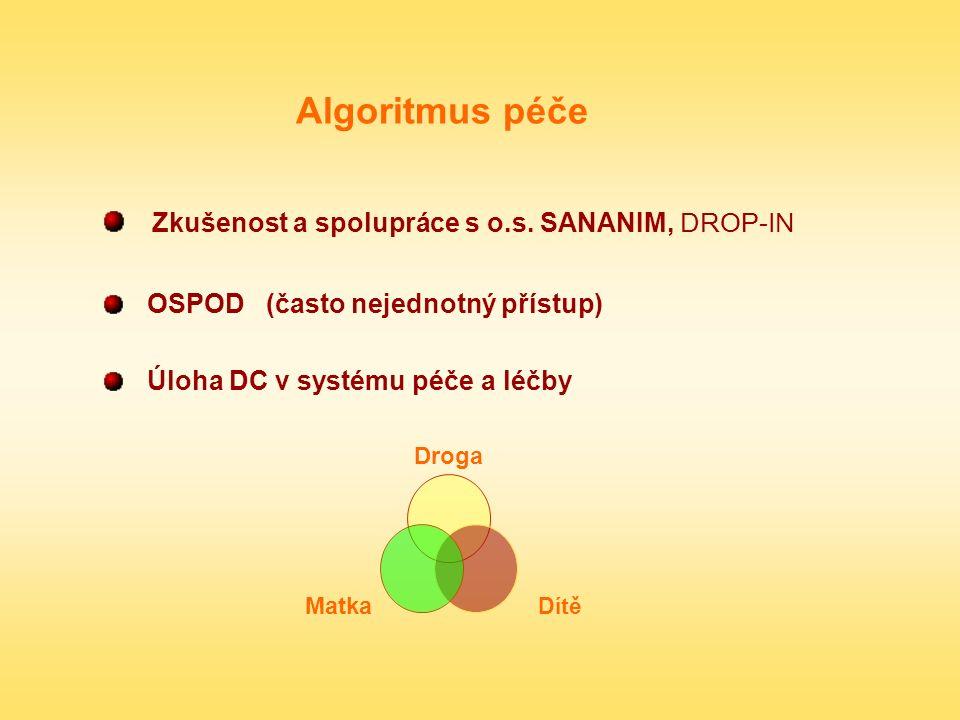 Zkušenost a spolupráce s o.s. SANANIM, DROP-IN