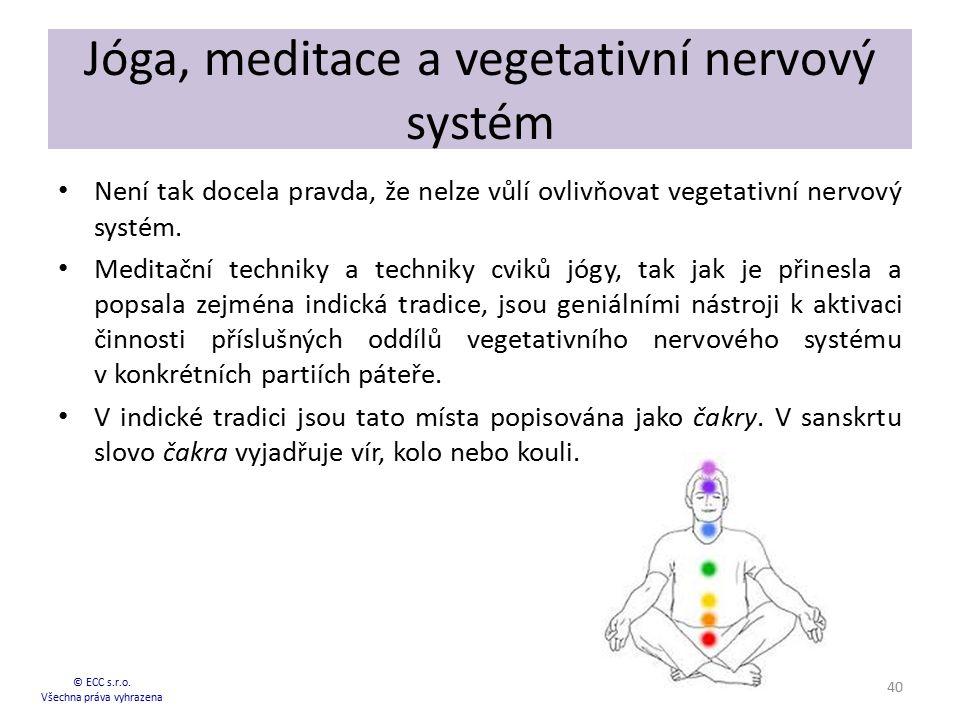 Jóga, meditace a vegetativní nervový systém
