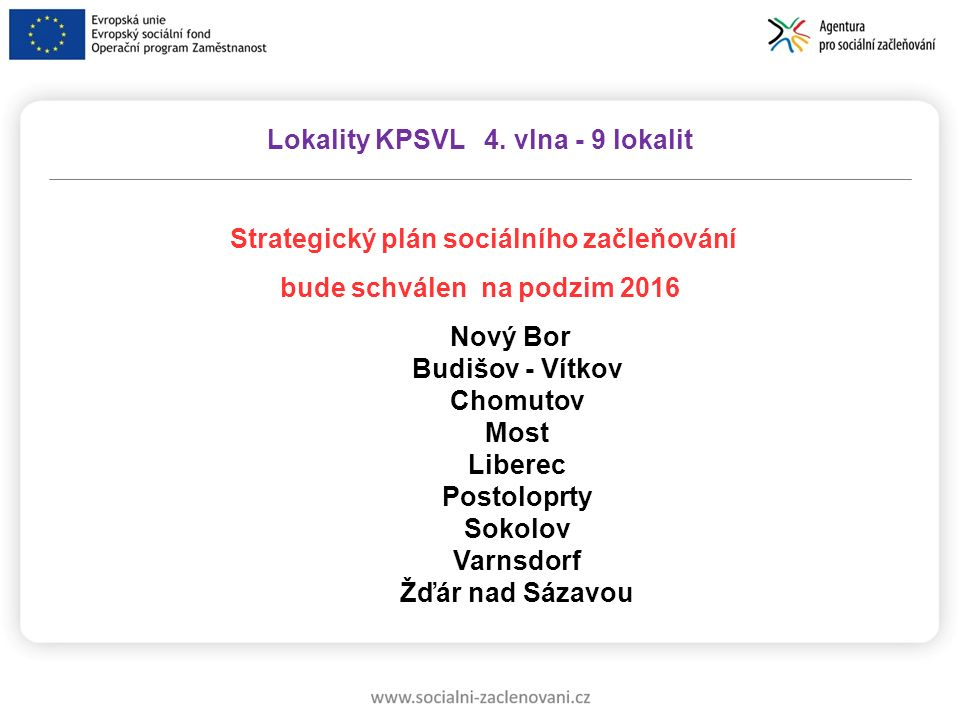 Strategický plán sociálního začleňování bude schválen na podzim 2016