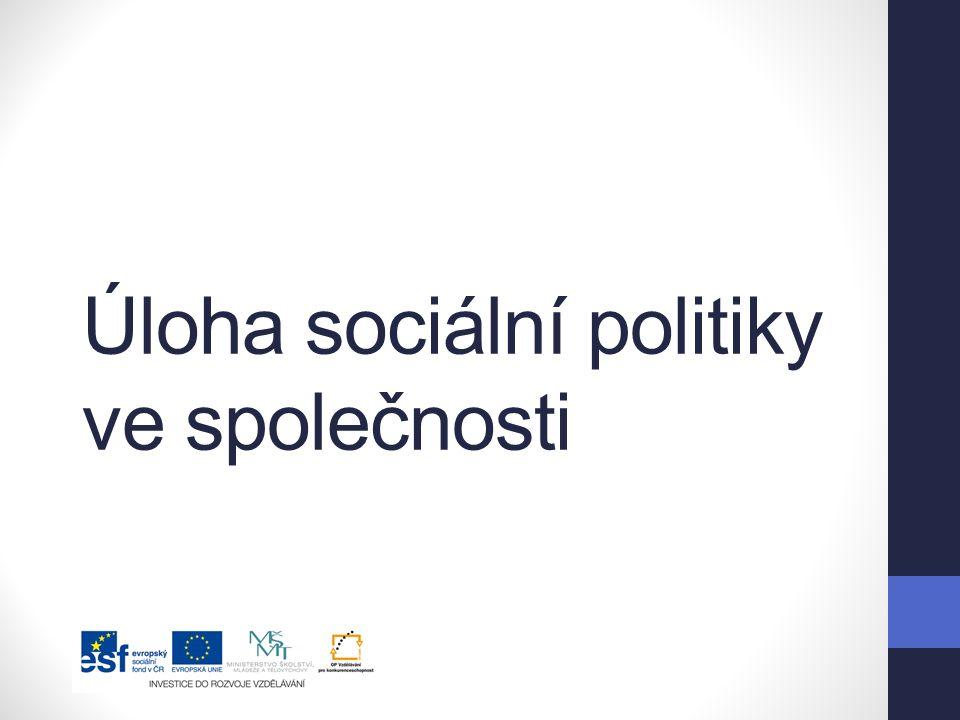 Úloha sociální politiky ve společnosti