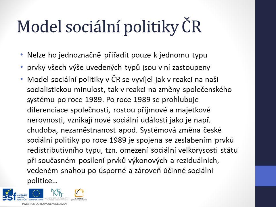 Model sociální politiky ČR
