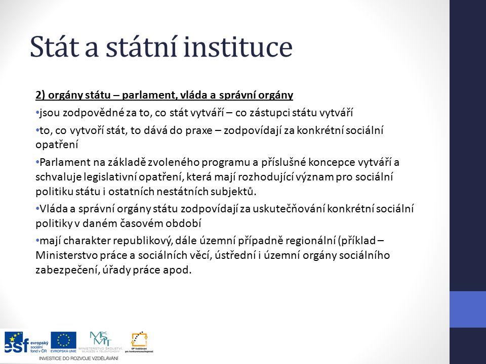 Stát a státní instituce