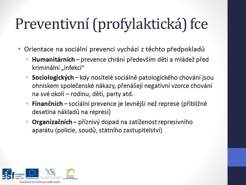 Preventivní (profylaktická) fce
