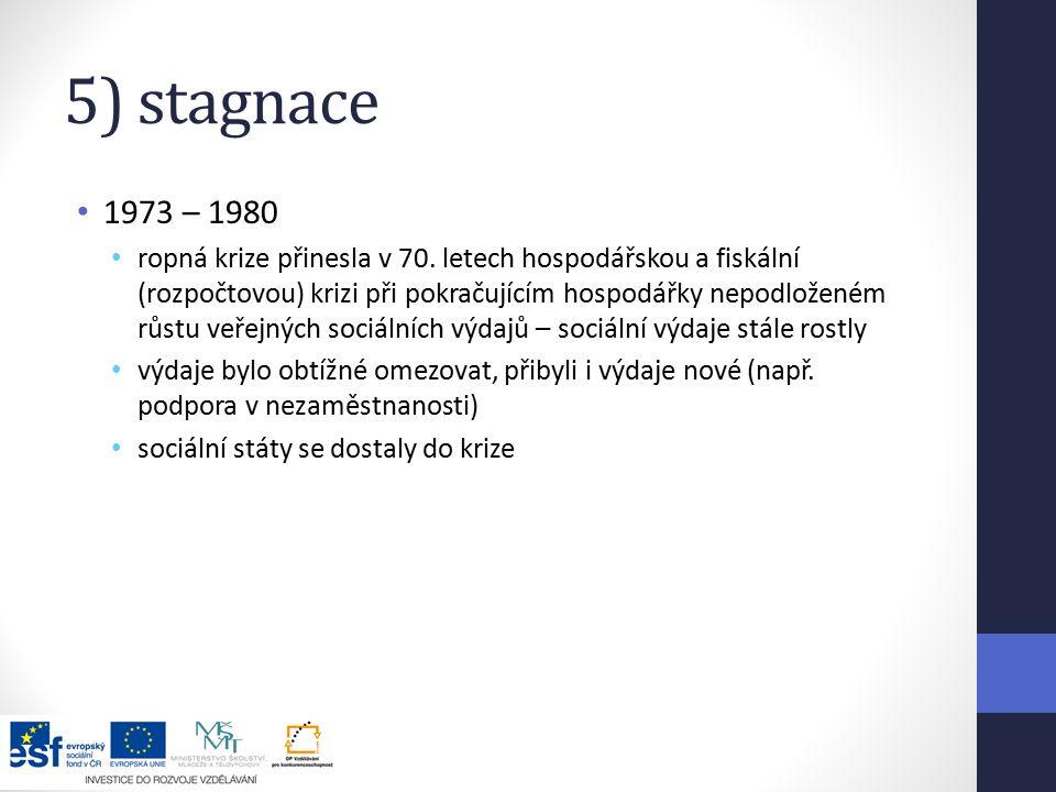 5) stagnace 1973 – 1980.