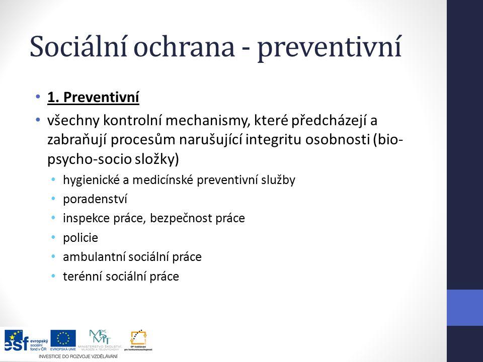 Sociální ochrana - preventivní