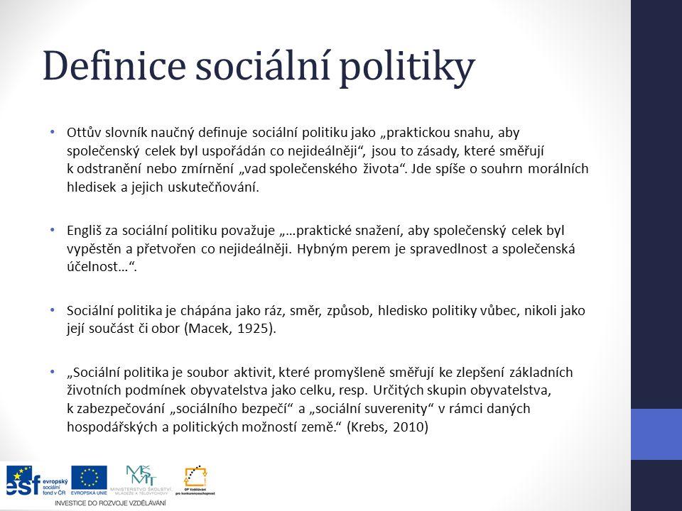 Definice sociální politiky