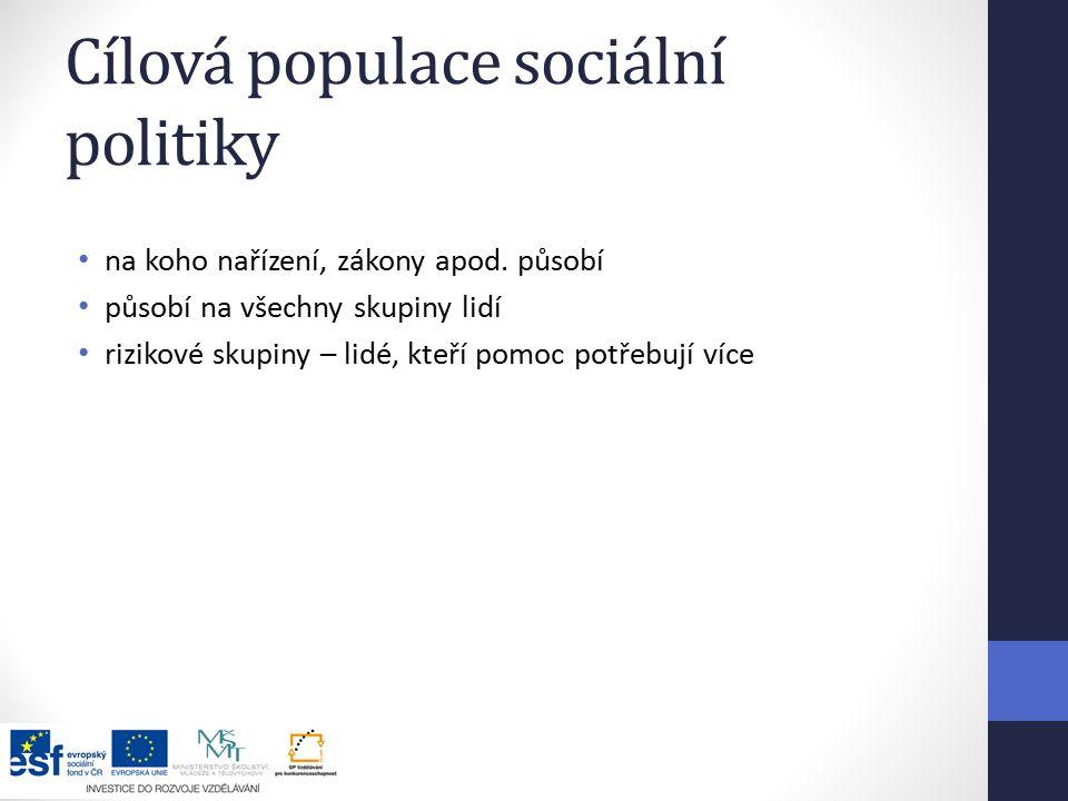 Cílová populace sociální politiky