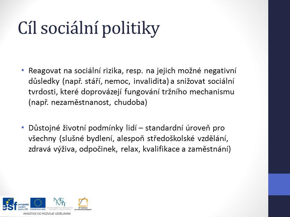 Cíl sociální politiky