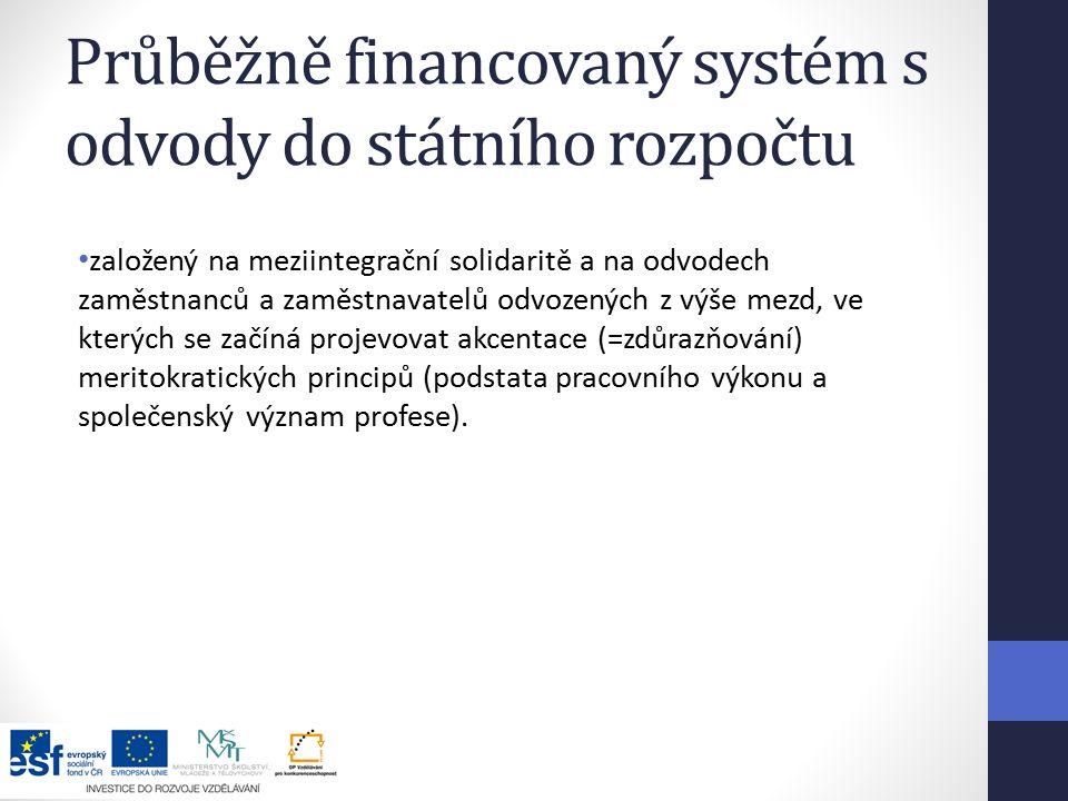 Průběžně financovaný systém s odvody do státního rozpočtu