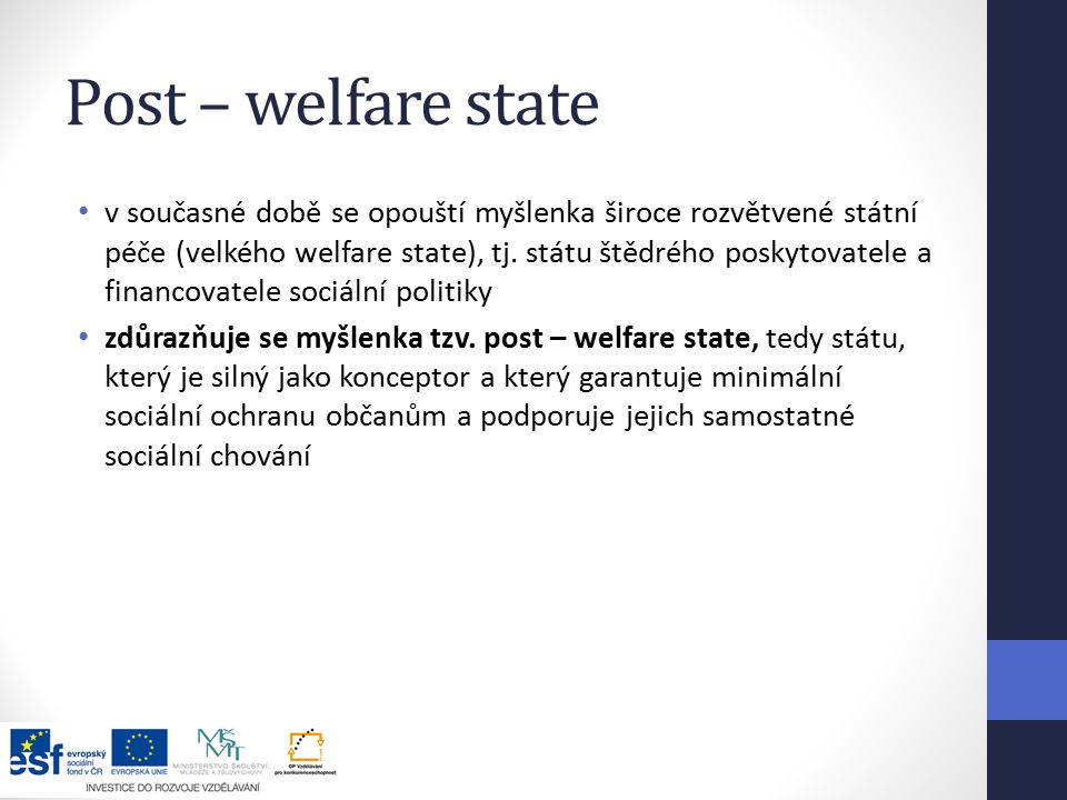 Post – welfare state