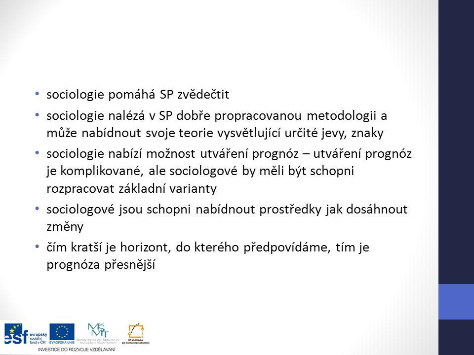 sociologie pomáhá SP zvědečtit