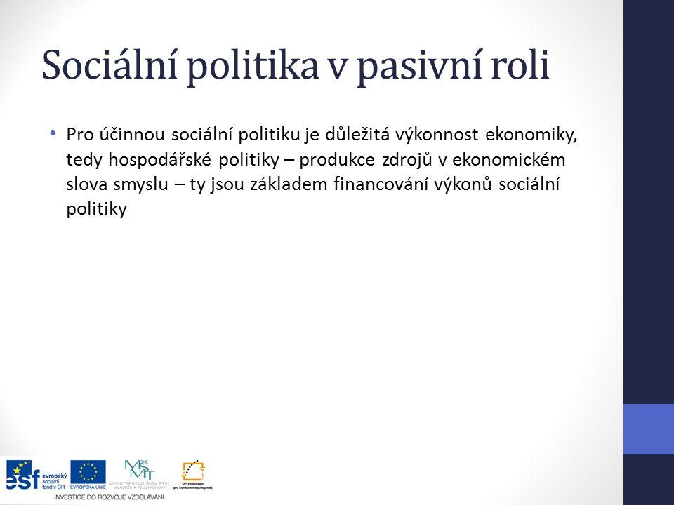 Sociální politika v pasivní roli