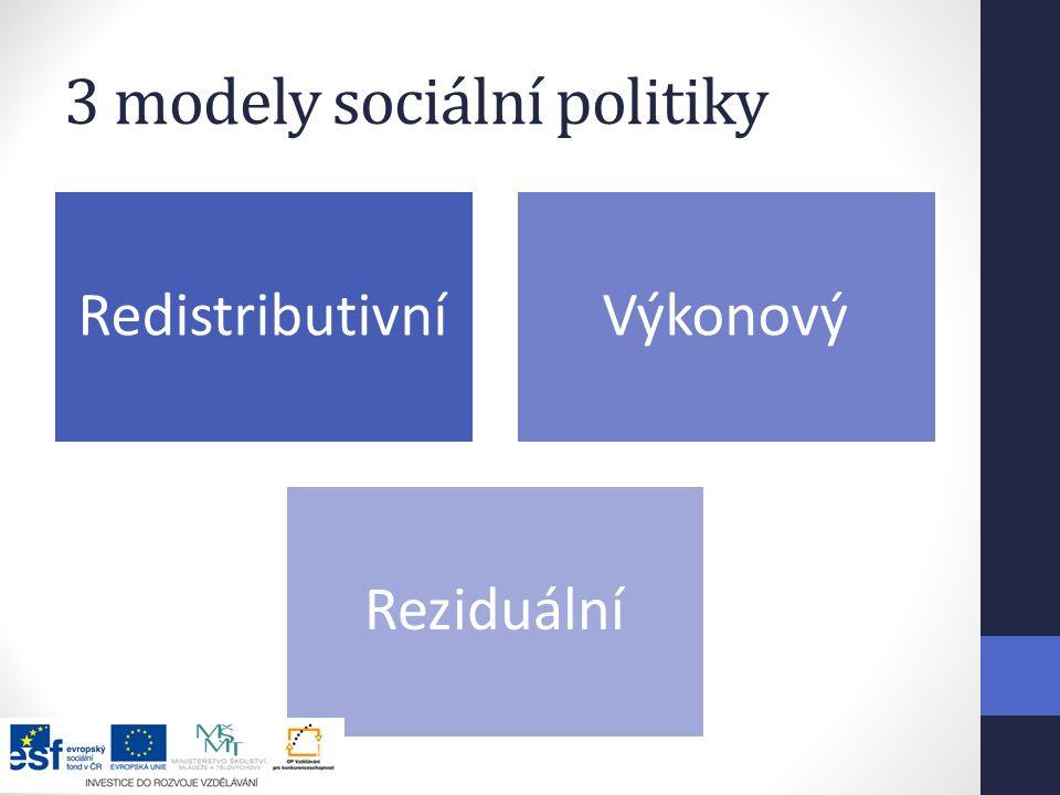 3 modely sociální politiky