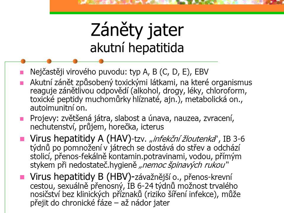 Záněty jater akutní hepatitida