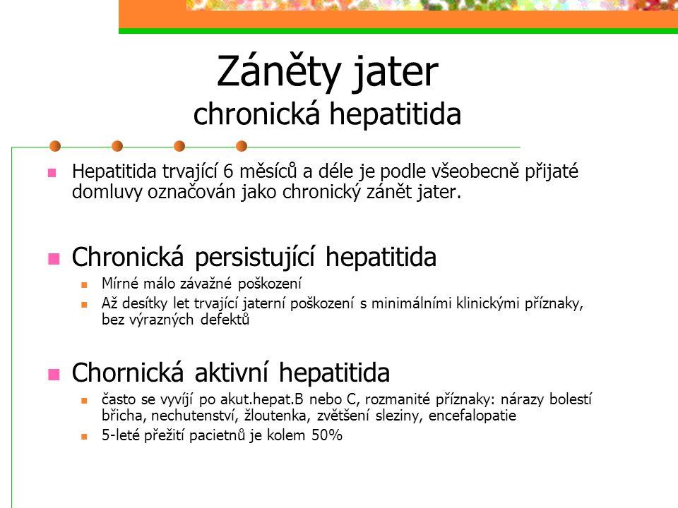Záněty jater chronická hepatitida