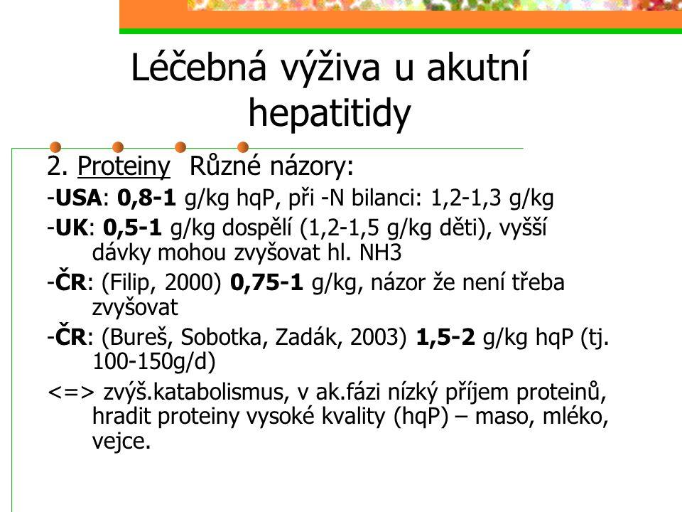 Léčebná výživa u akutní hepatitidy
