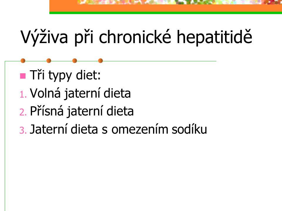 Výživa při chronické hepatitidě
