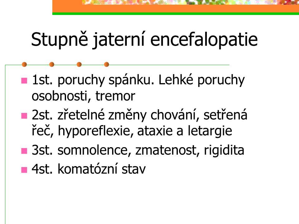 Stupně jaterní encefalopatie
