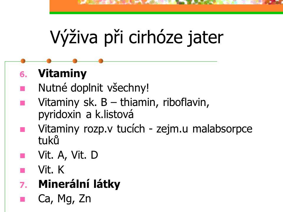 Výživa při cirhóze jater