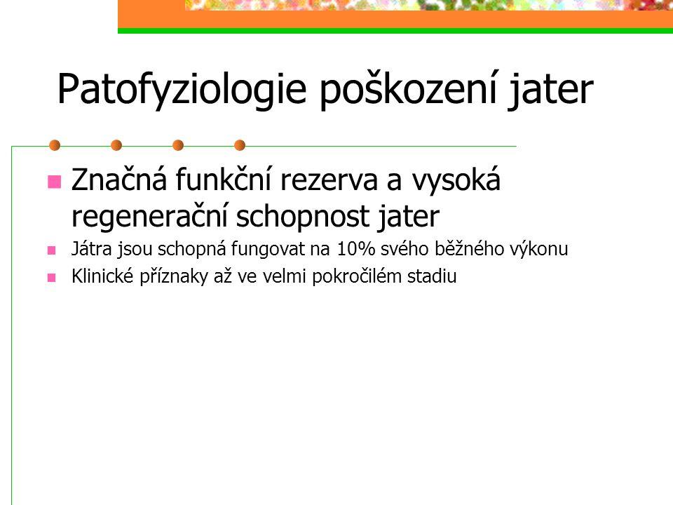 Patofyziologie poškození jater
