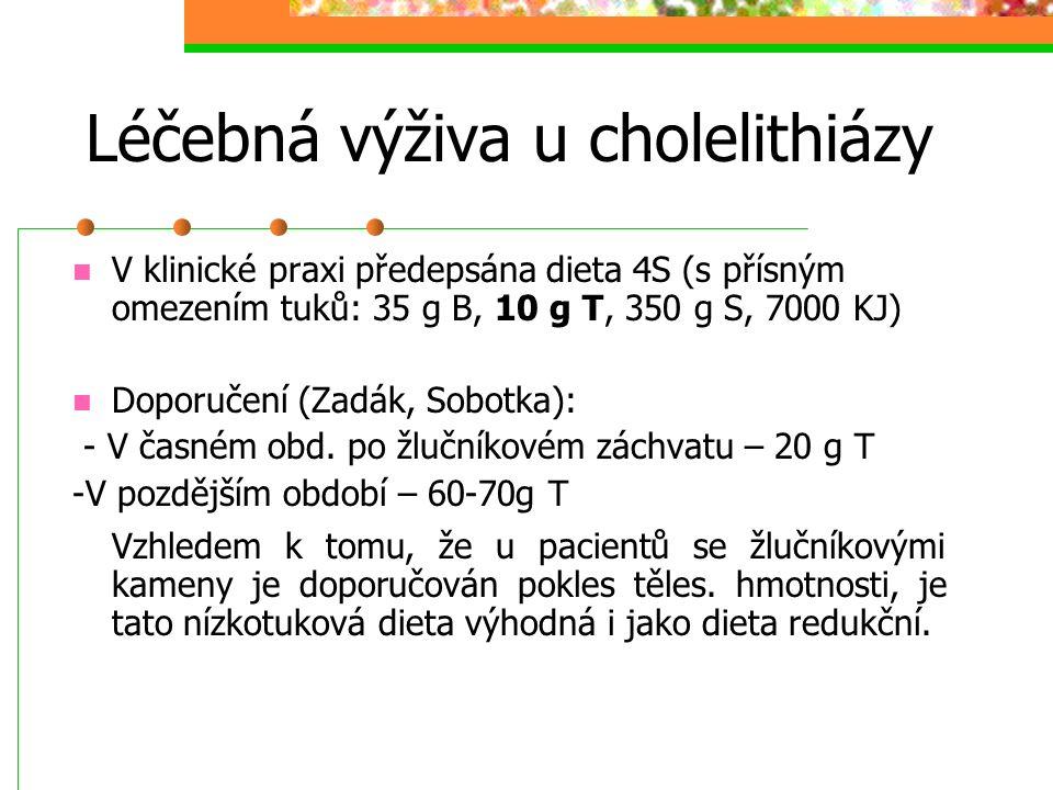 Léčebná výživa u cholelithiázy