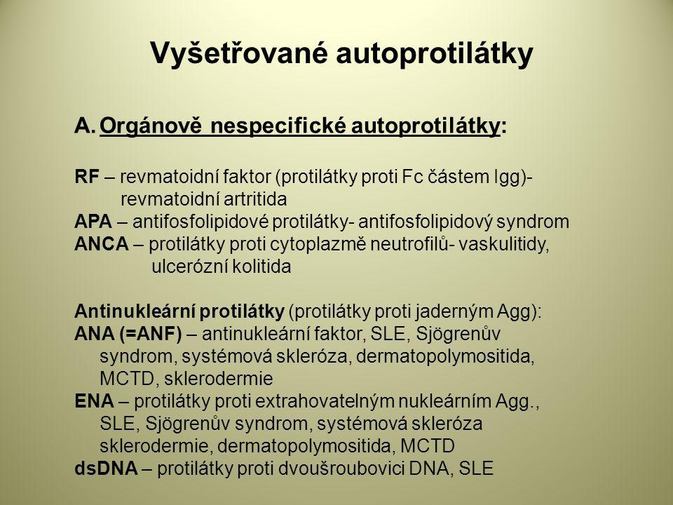Vyšetřované autoprotilátky