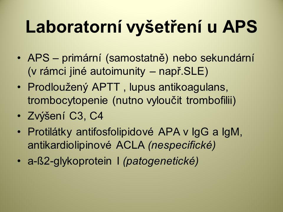 Laboratorní vyšetření u APS