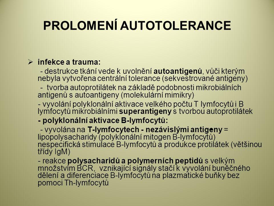 PROLOMENÍ AUTOTOLERANCE