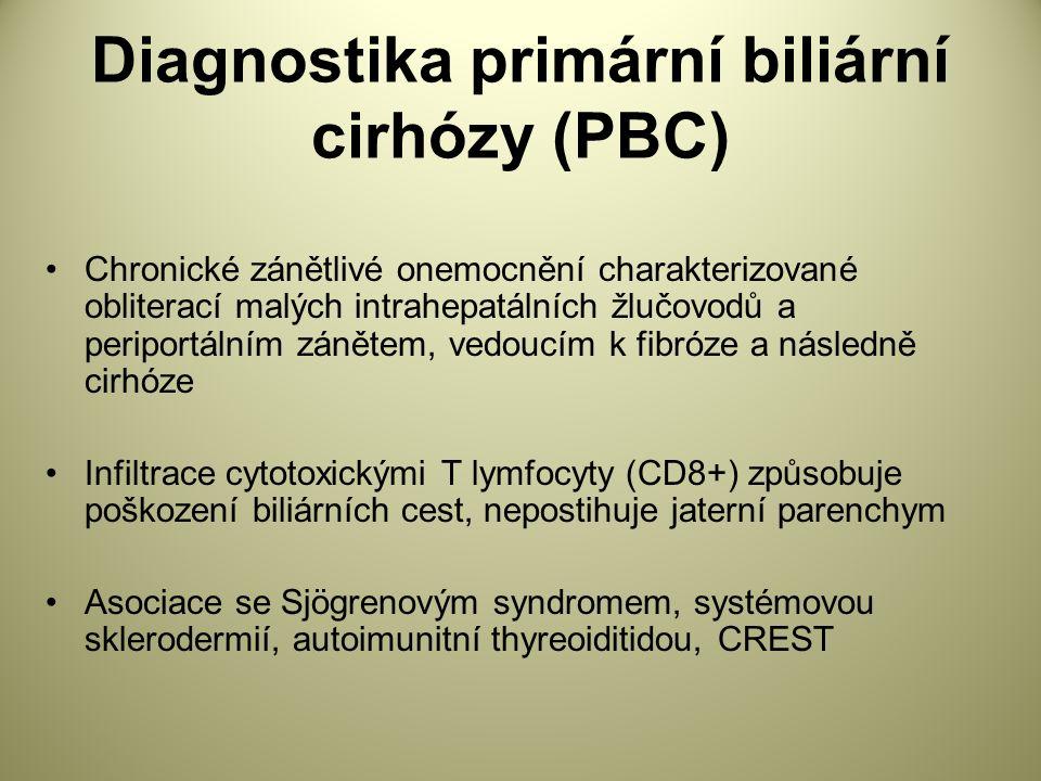 Diagnostika primární biliární cirhózy (PBC)