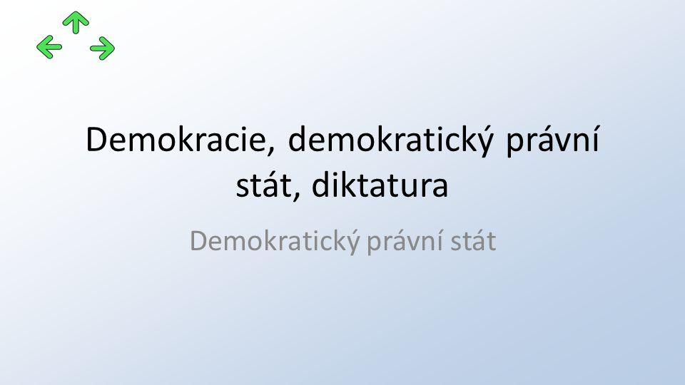 Demokracie, demokratický právní stát, diktatura